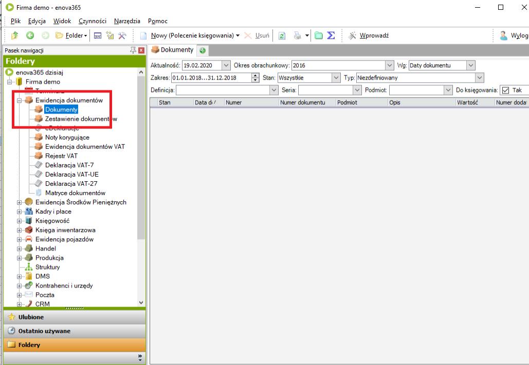 wyświetlanie dokumentów w enova365