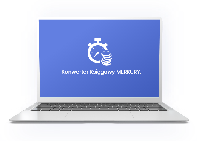 Konwerter Księgowy Merkury w laptopie